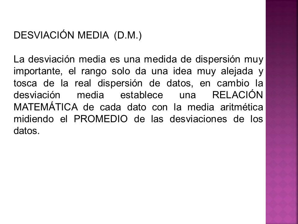 DESVIACIÓN MEDIA (D.M.)