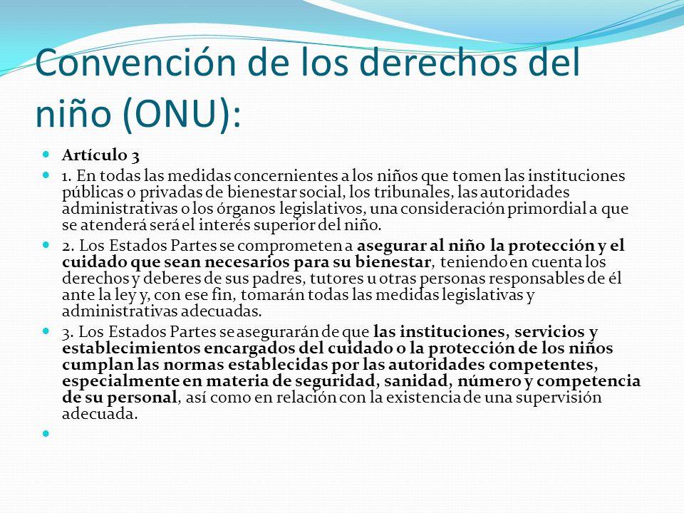 Convención de los derechos del niño (ONU):