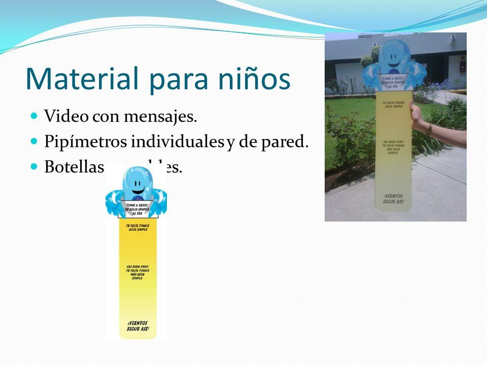 Material para niños Video con mensajes.