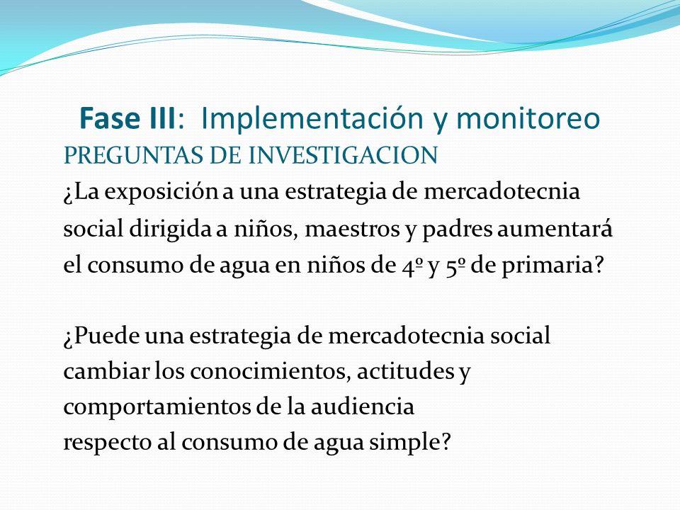 Fase III: Implementación y monitoreo