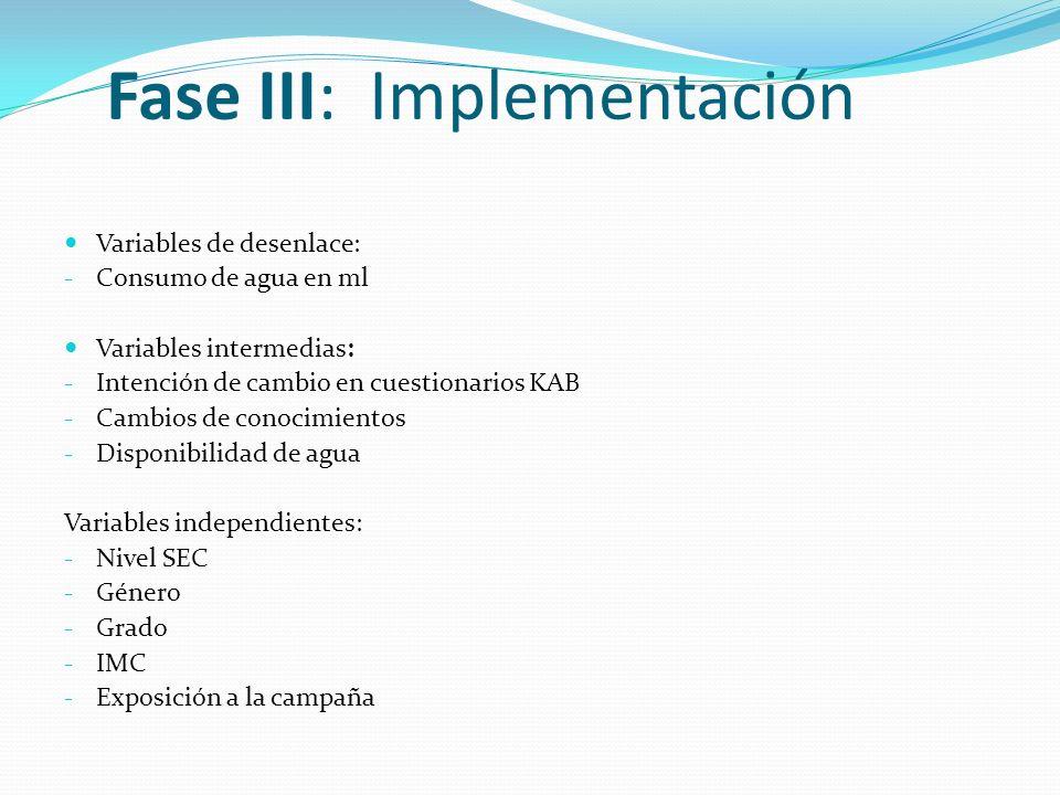 Fase III: Implementación