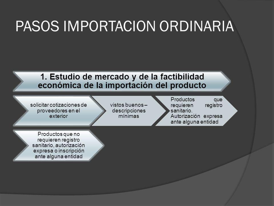 PASOS IMPORTACION ORDINARIA
