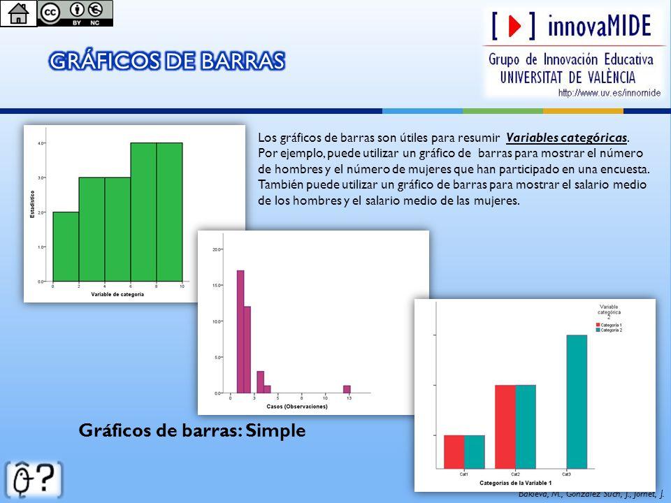GRÁFICOS DE BARRAS Gráficos de barras: Simple