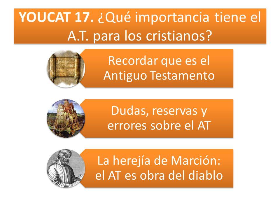YOUCAT 17. ¿Qué importancia tiene el A.T. para los cristianos