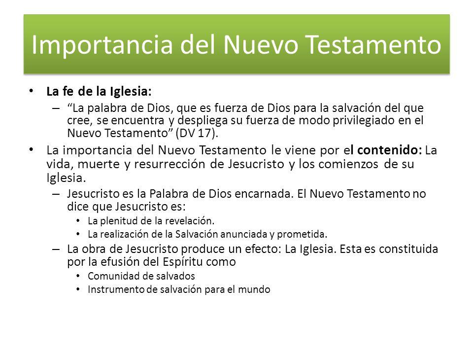 Importancia del Nuevo Testamento