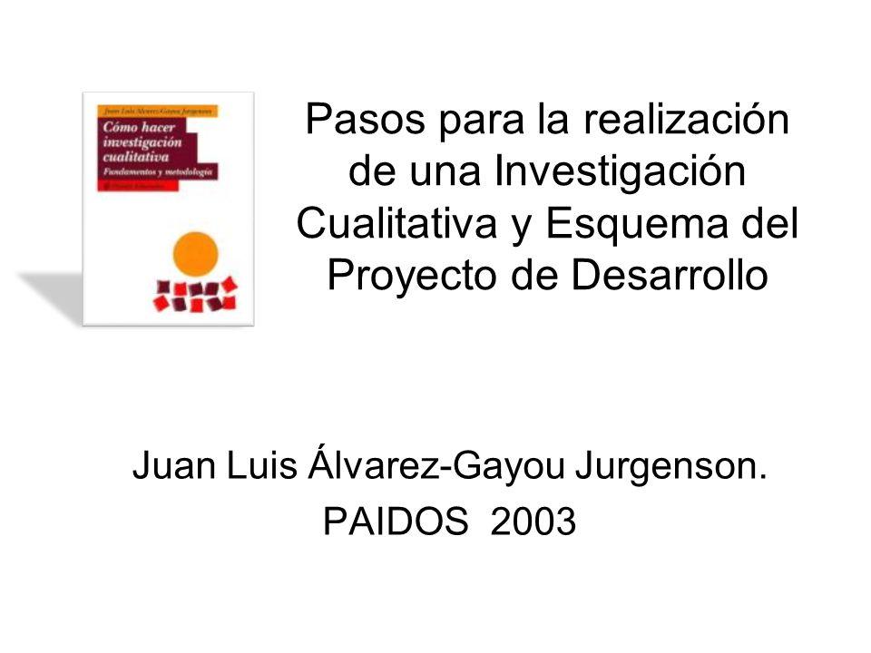 Juan Luis Álvarez-Gayou Jurgenson. PAIDOS 2003
