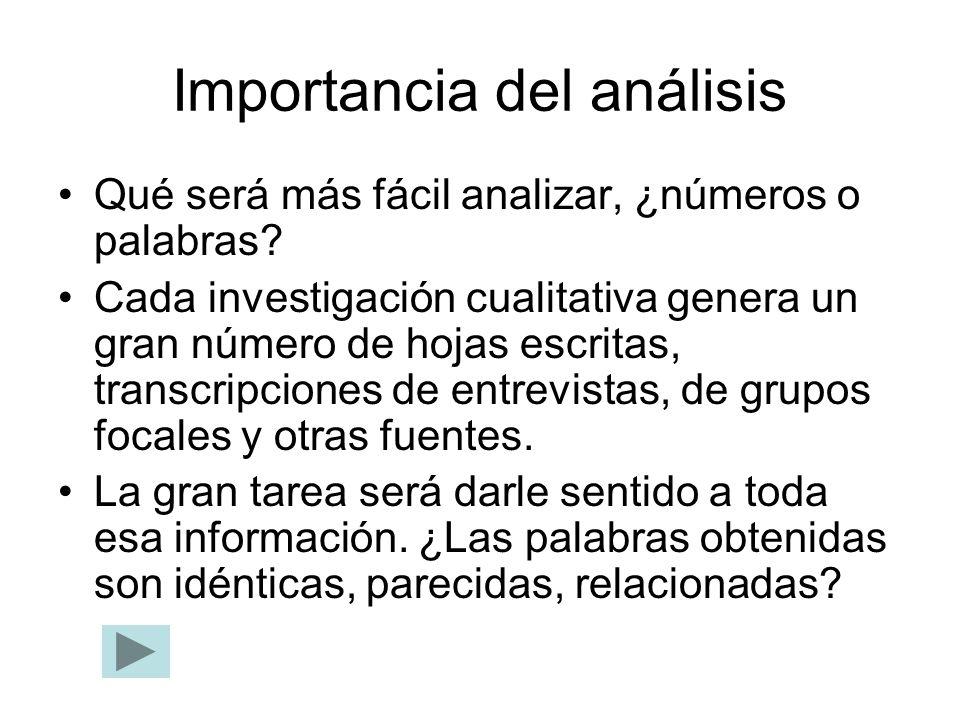 Importancia del análisis