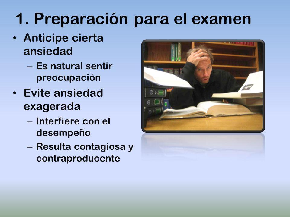 1. Preparación para el examen