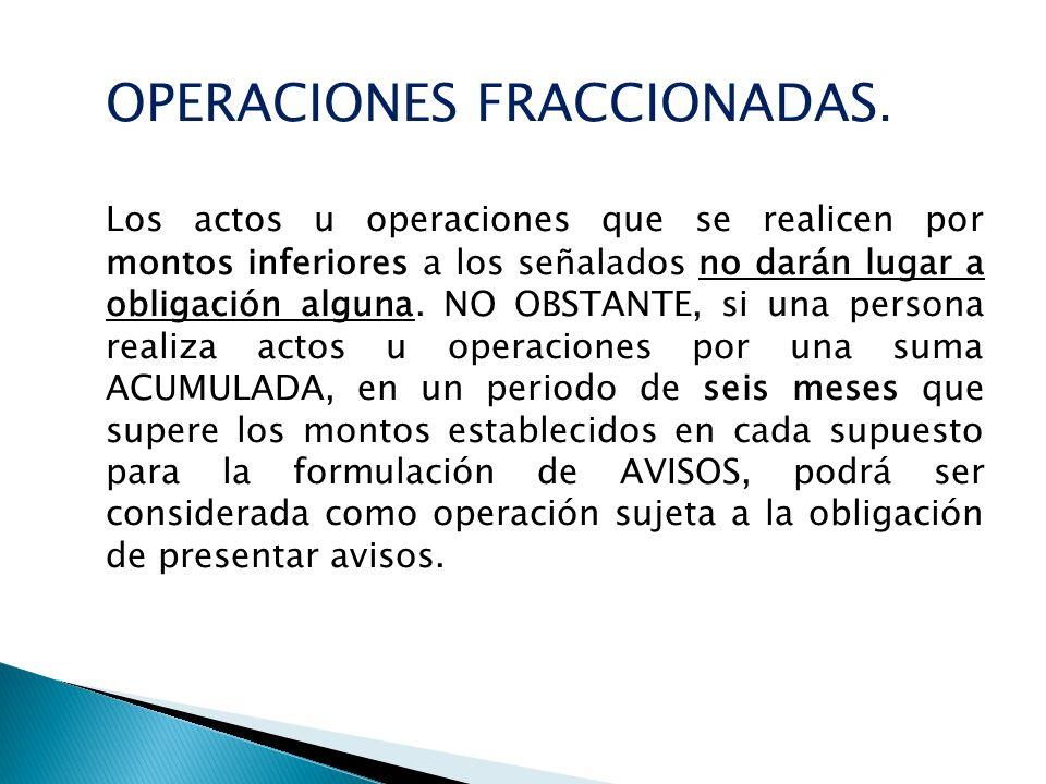 OPERACIONES FRACCIONADAS.