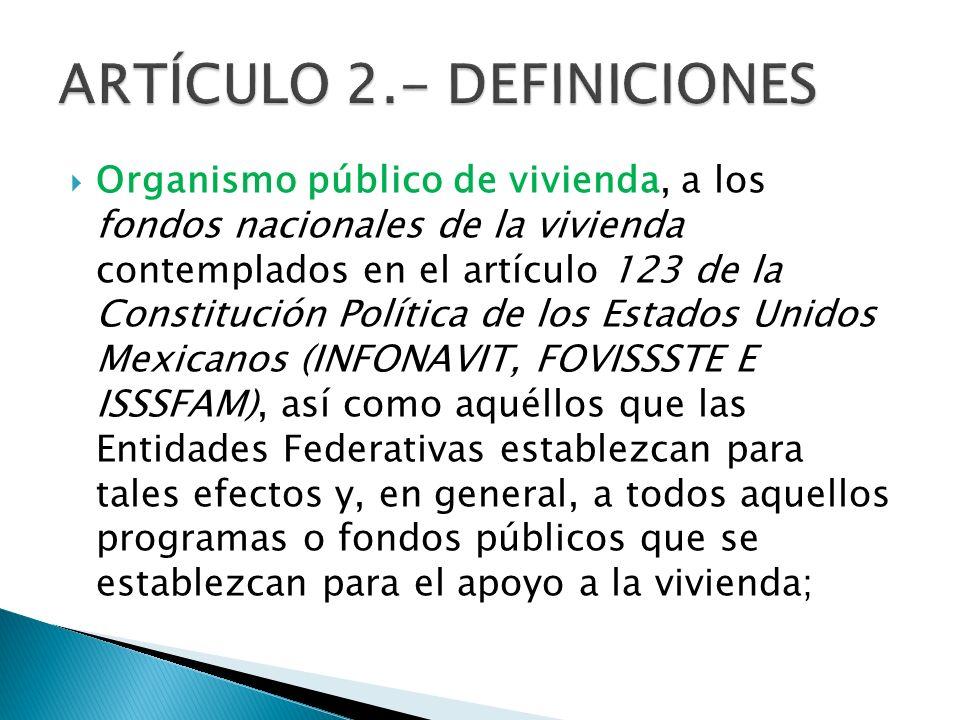ARTÍCULO 2.- DEFINICIONES