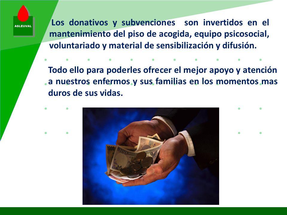 Los donativos y subvenciones son invertidos en el mantenimiento del piso de acogida, equipo psicosocial, voluntariado y material de sensibilización y difusión.