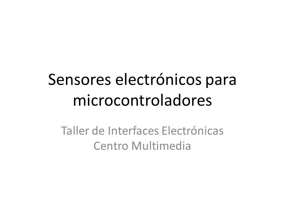 Sensores electrónicos para microcontroladores