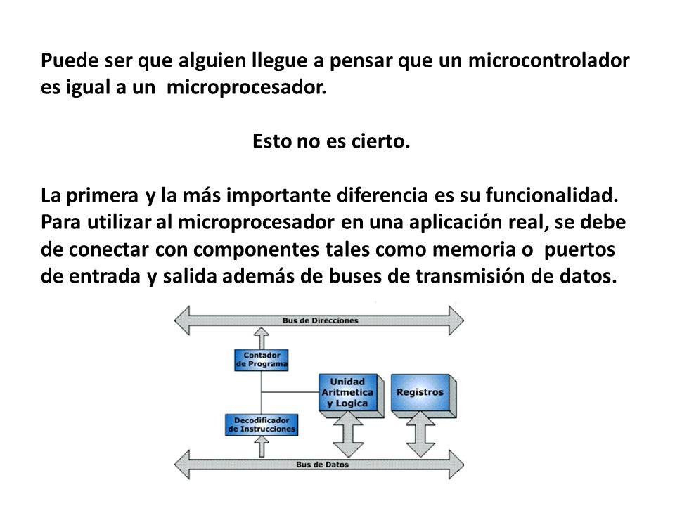 Puede ser que alguien llegue a pensar que un microcontrolador es igual a un microprocesador.