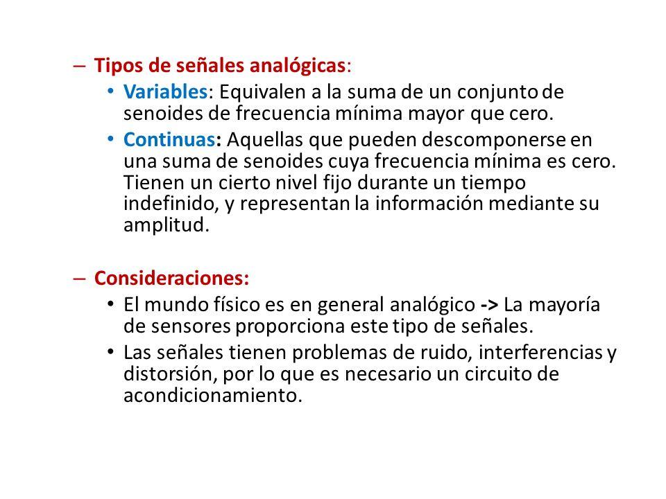 Tipos de señales analógicas: