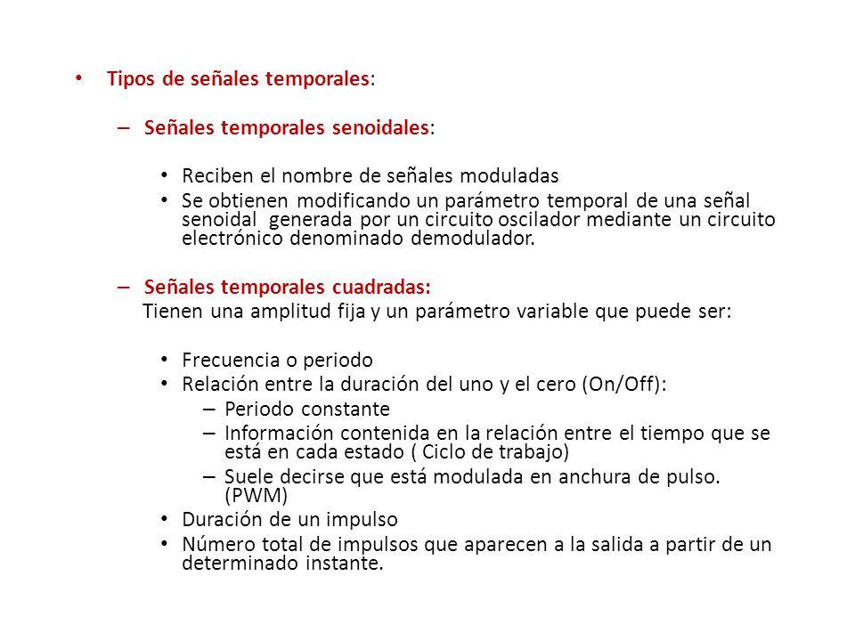 Tipos de señales temporales: