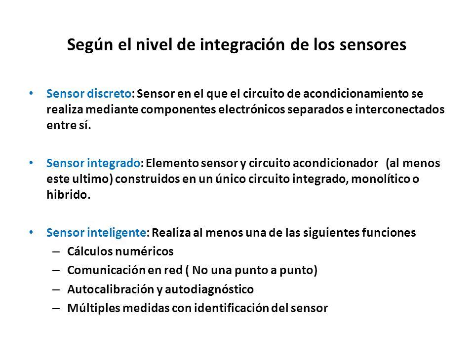 Según el nivel de integración de los sensores