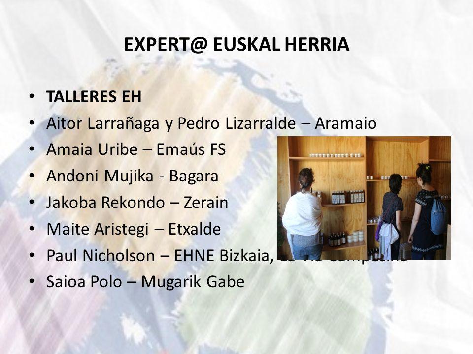 EXPERT@ EUSKAL HERRIA TALLERES EH