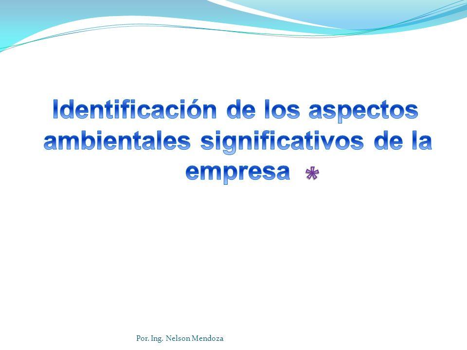 Identificación de los aspectos ambientales significativos de la empresa