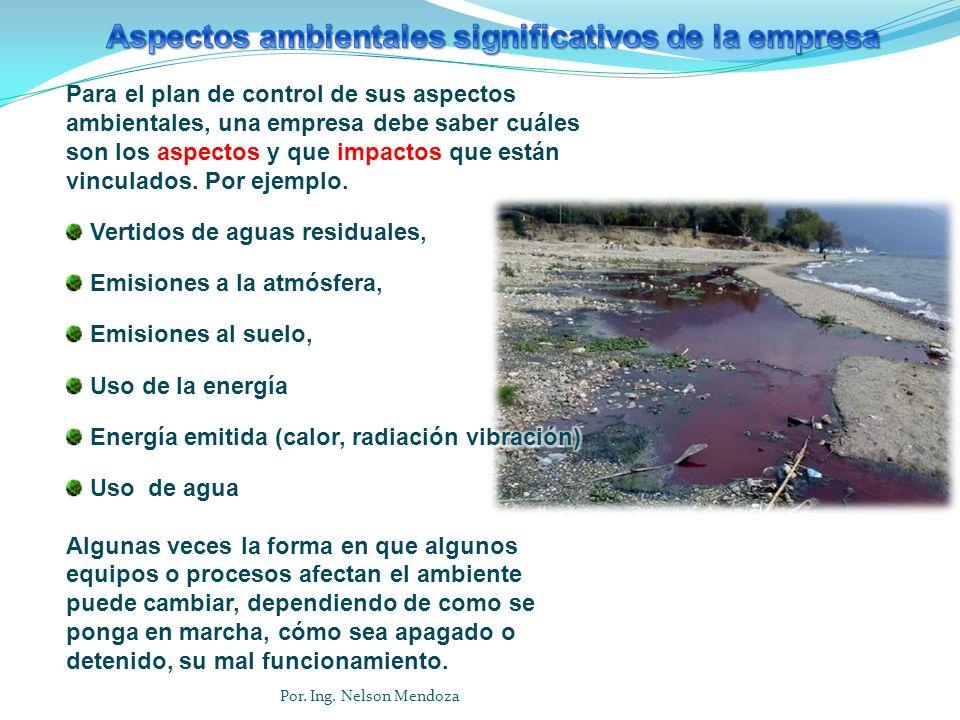 Aspectos ambientales significativos de la empresa
