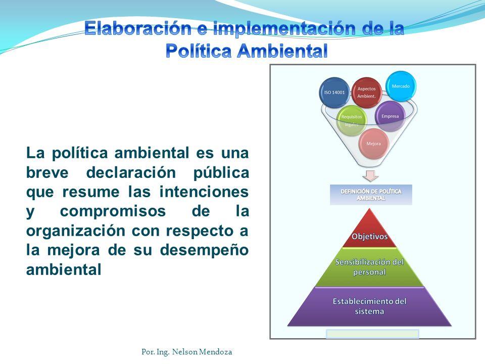 Elaboración e implementación de la Política Ambiental