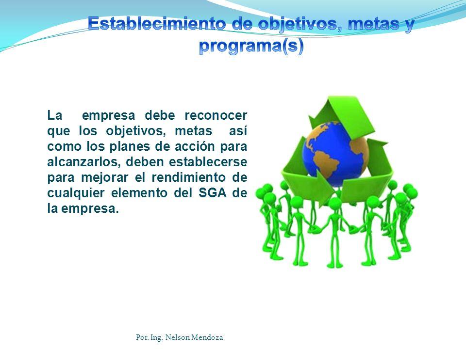 Establecimiento de objetivos, metas y programa(s)