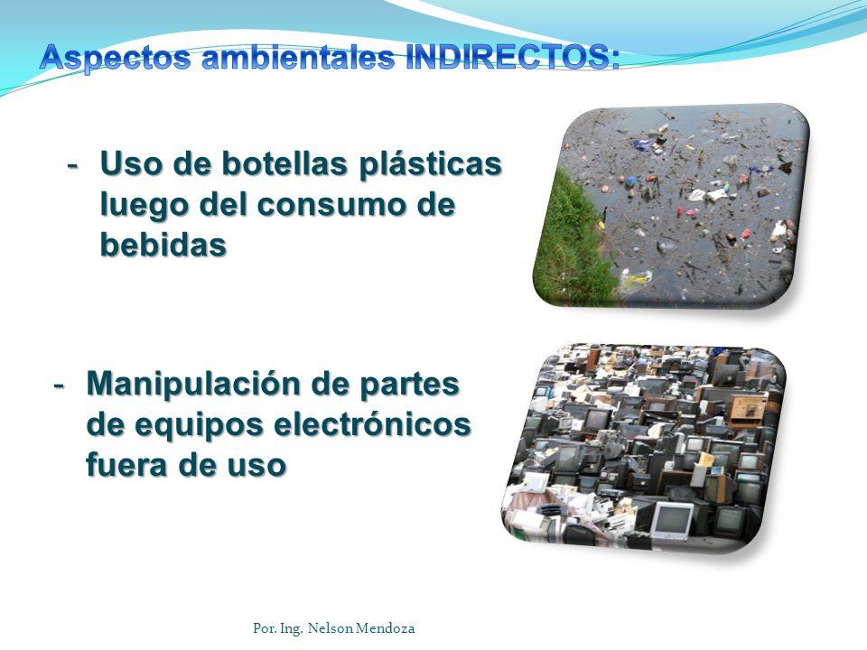 Aspectos ambientales INDIRECTOS: