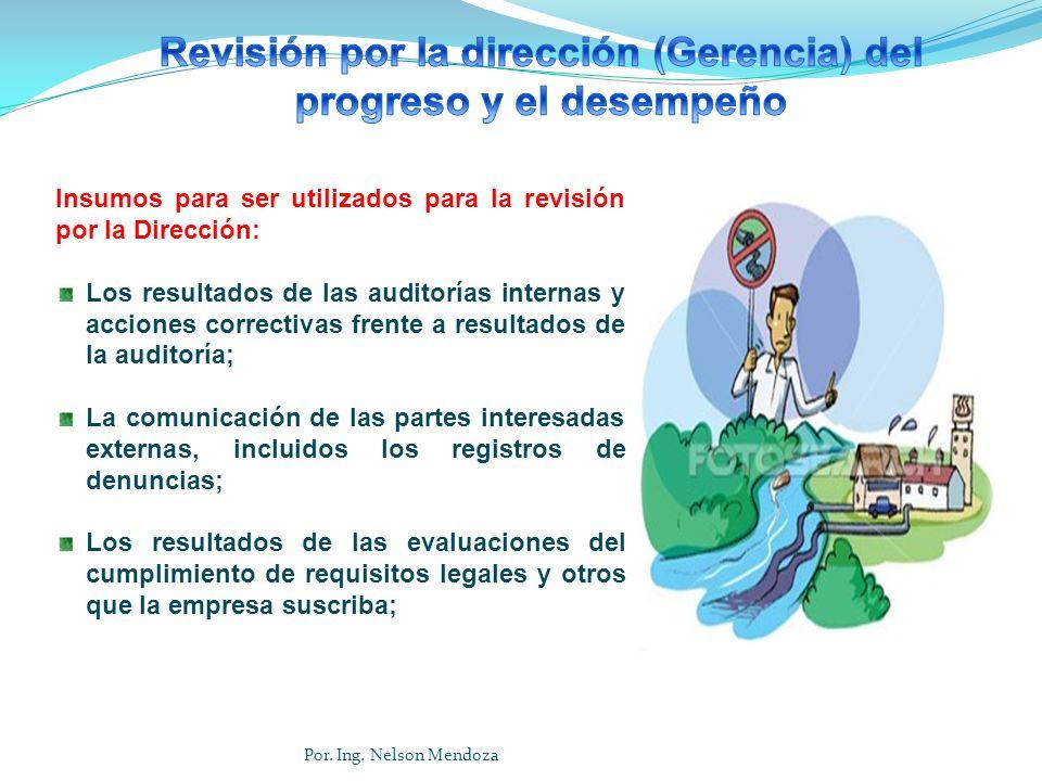Revisión por la dirección (Gerencia) del progreso y el desempeño