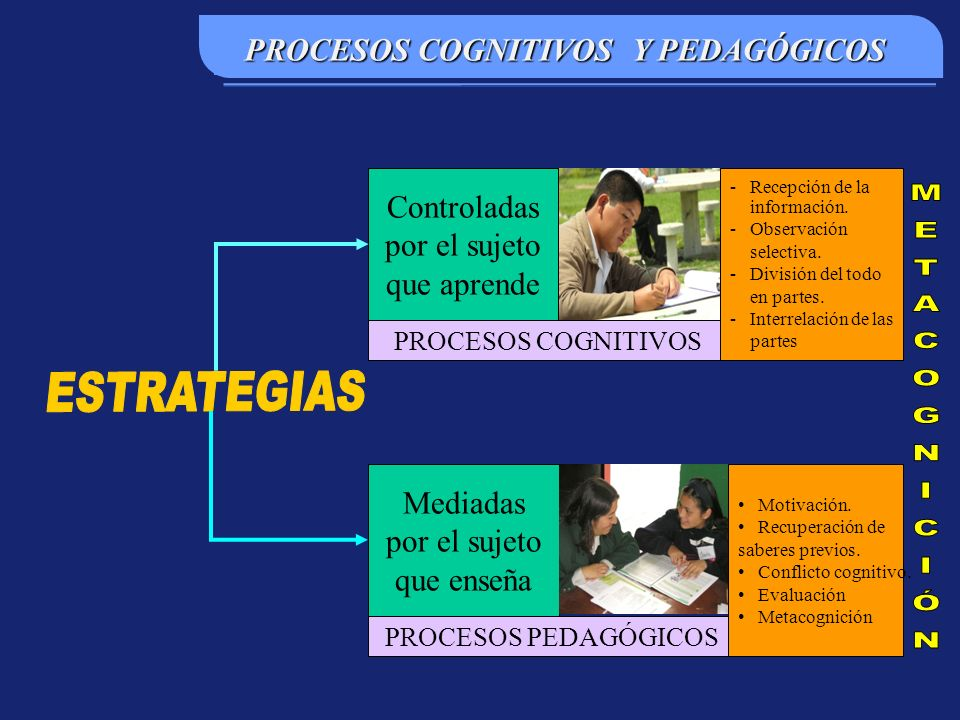 PROCESOS COGNITIVOS Y PEDAGÓGICOS