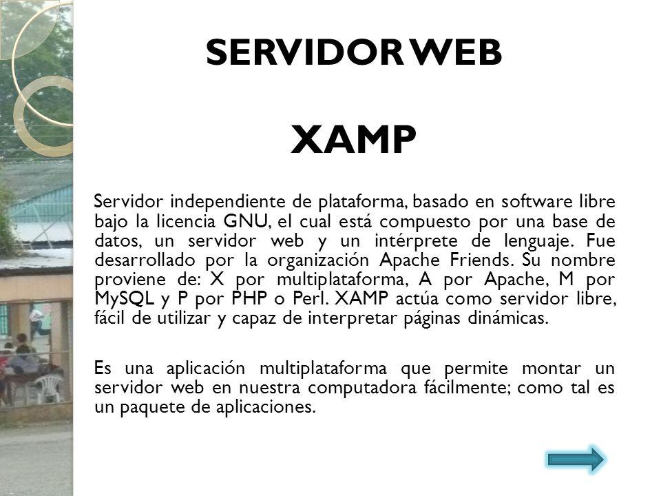 SERVIDOR WEB XAMP.