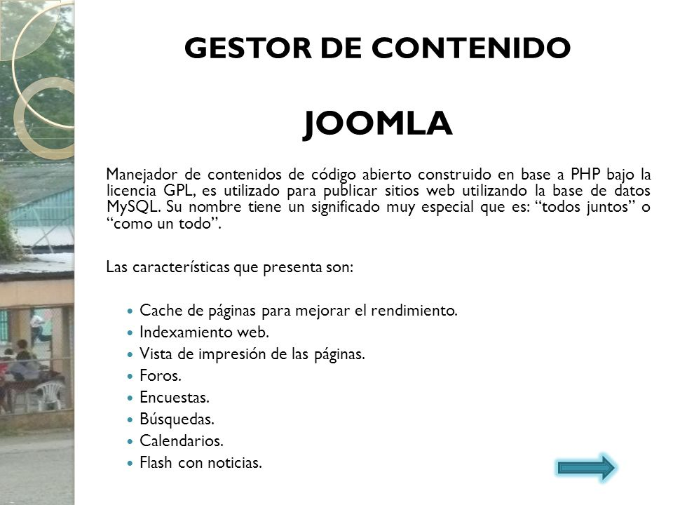 JOOMLA GESTOR DE CONTENIDO