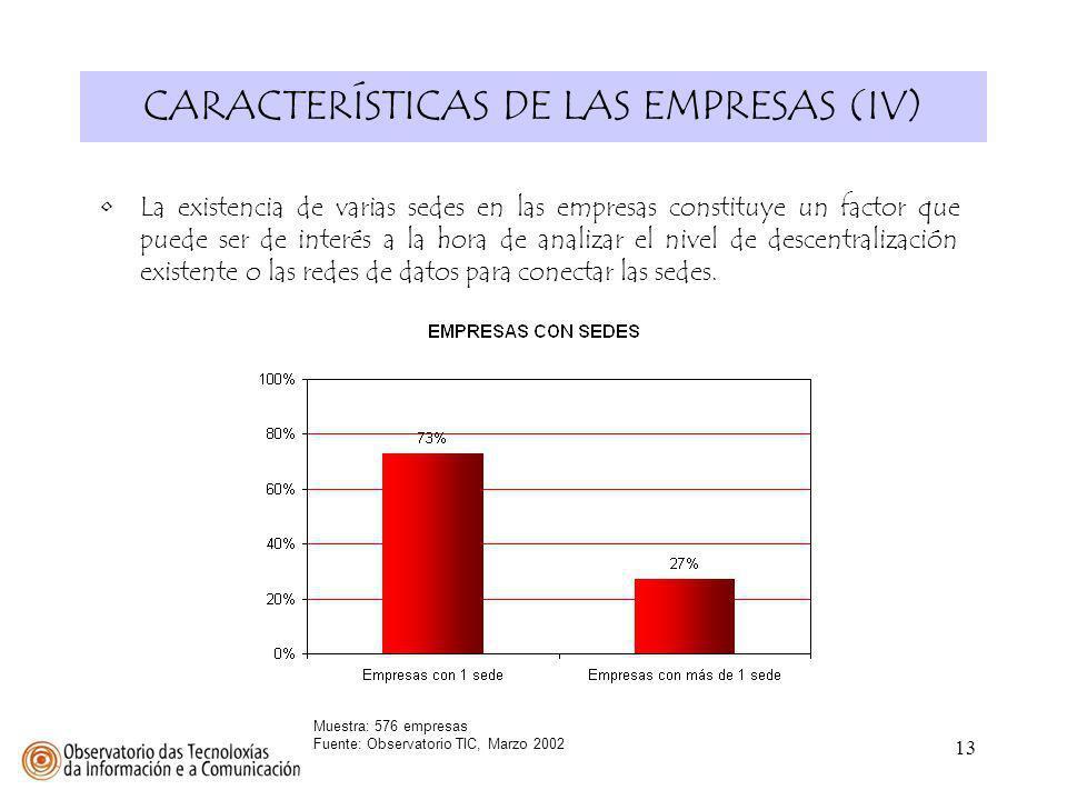 CARACTERÍSTICAS DE LAS EMPRESAS (IV)