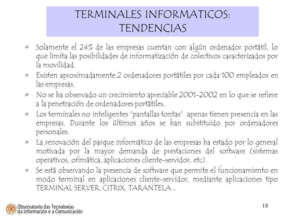 TERMINALES INFORMATICOS: TENDENCIAS