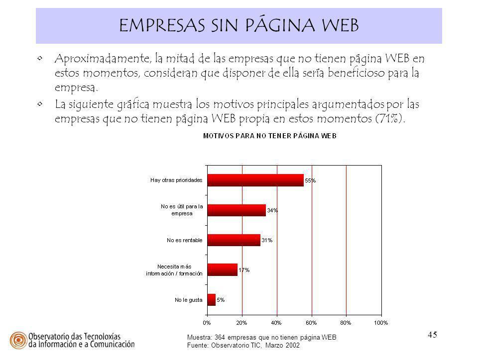 EMPRESAS SIN PÁGINA WEB