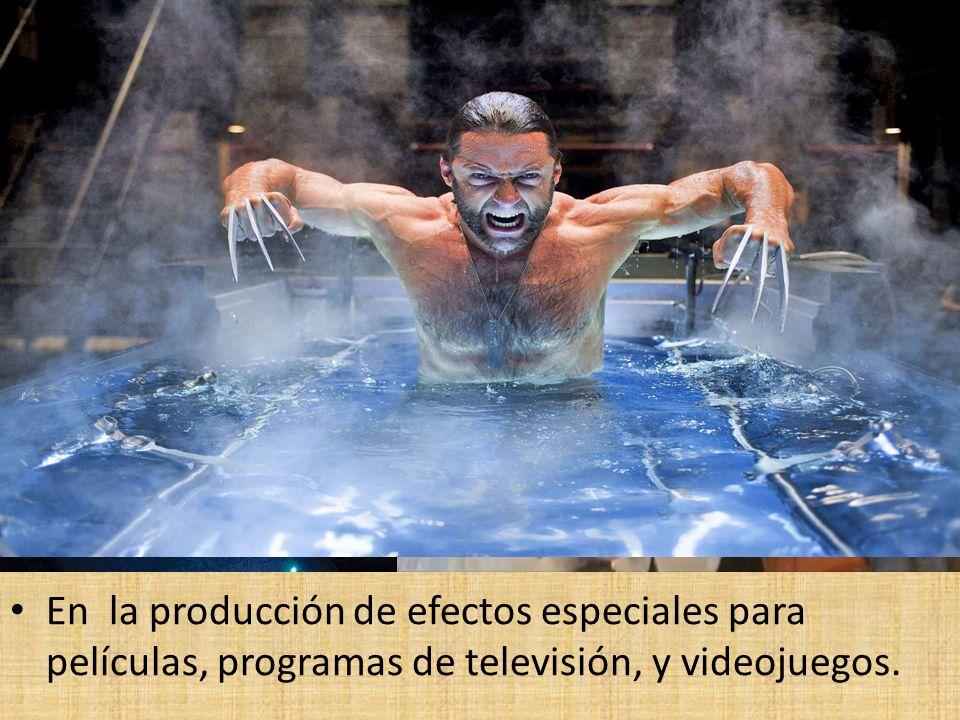 En la producción de efectos especiales para películas, programas de televisión, y videojuegos.