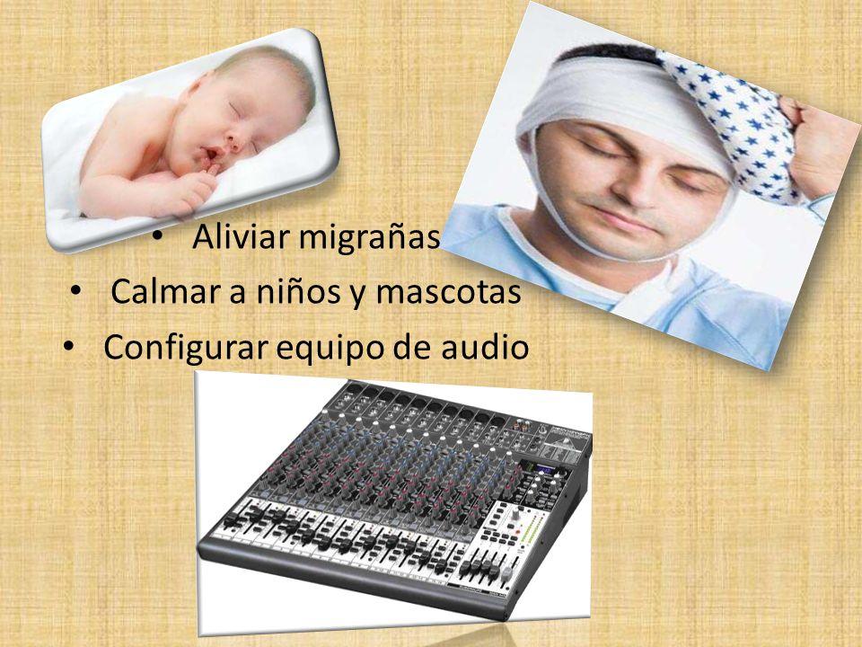 Calmar a niños y mascotas Configurar equipo de audio