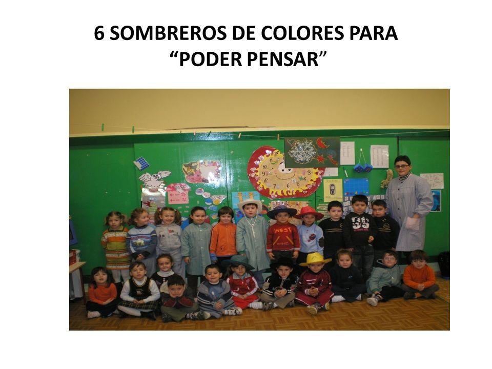 6 SOMBREROS DE COLORES PARA PODER PENSAR