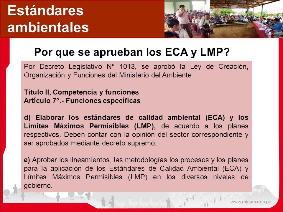 Por que se aprueban los ECA y LMP