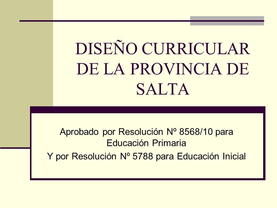 DISEÑO CURRICULAR DE LA PROVINCIA DE SALTA