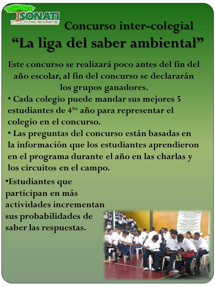 Concurso inter-colegial La liga del saber ambiental