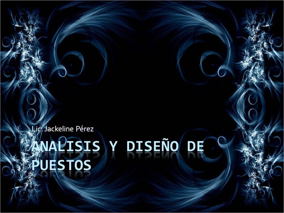 ANALISIS Y DISEÑO DE PUESTOS
