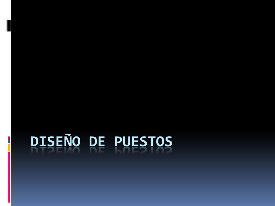 DISEÑO DE PUESTOS