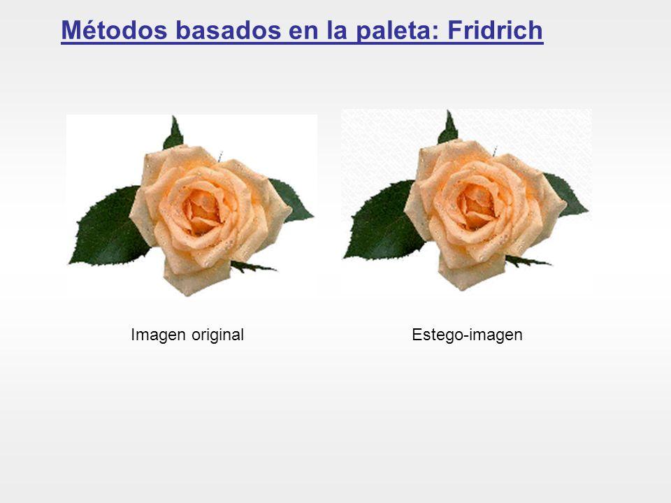 Métodos basados en la paleta: Fridrich
