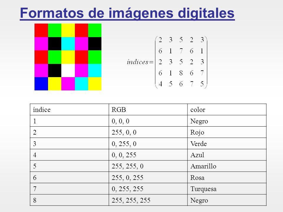 Formatos de imágenes digitales