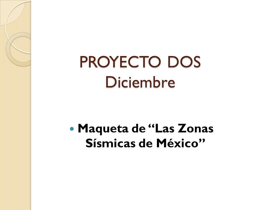 Maqueta de Las Zonas Sísmicas de México