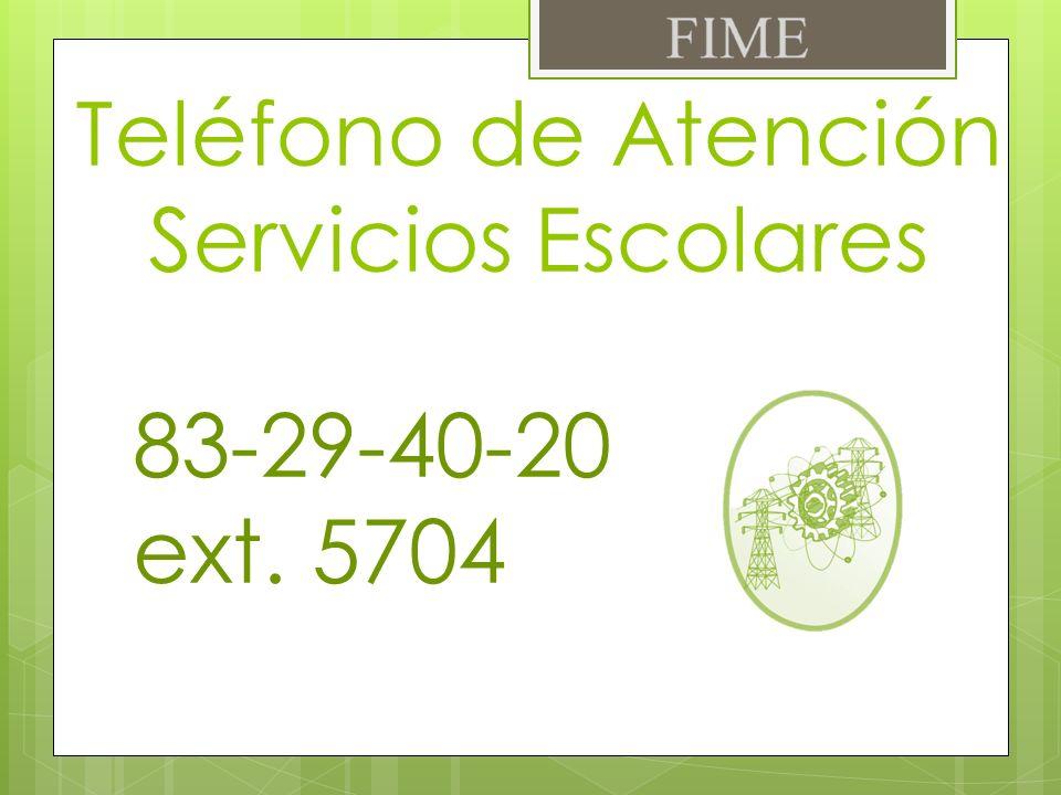 Teléfono de Atención Servicios Escolares