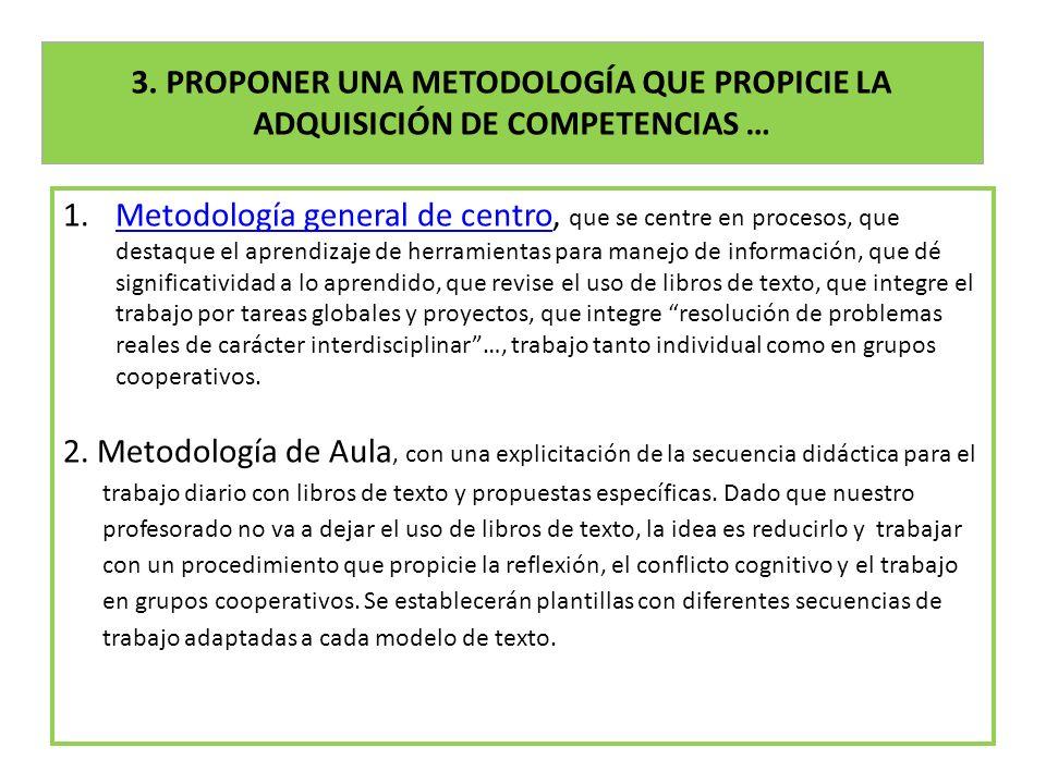 3. PROPONER UNA METODOLOGÍA QUE PROPICIE LA ADQUISICIÓN DE COMPETENCIAS …