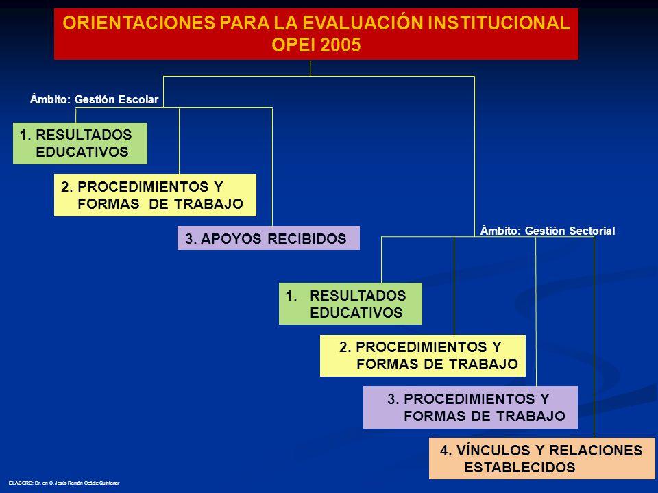 ORIENTACIONES PARA LA EVALUACIÓN INSTITUCIONAL