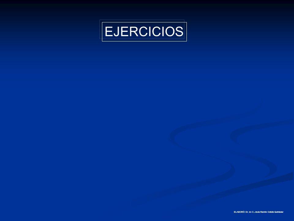 EJERCICIOS ELABORÓ: Dr. en C. Jesús Ramón Ocádiz Quintanar