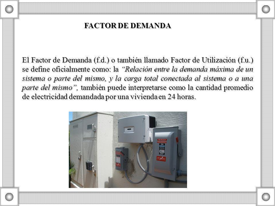 FACTOR DE DEMANDA