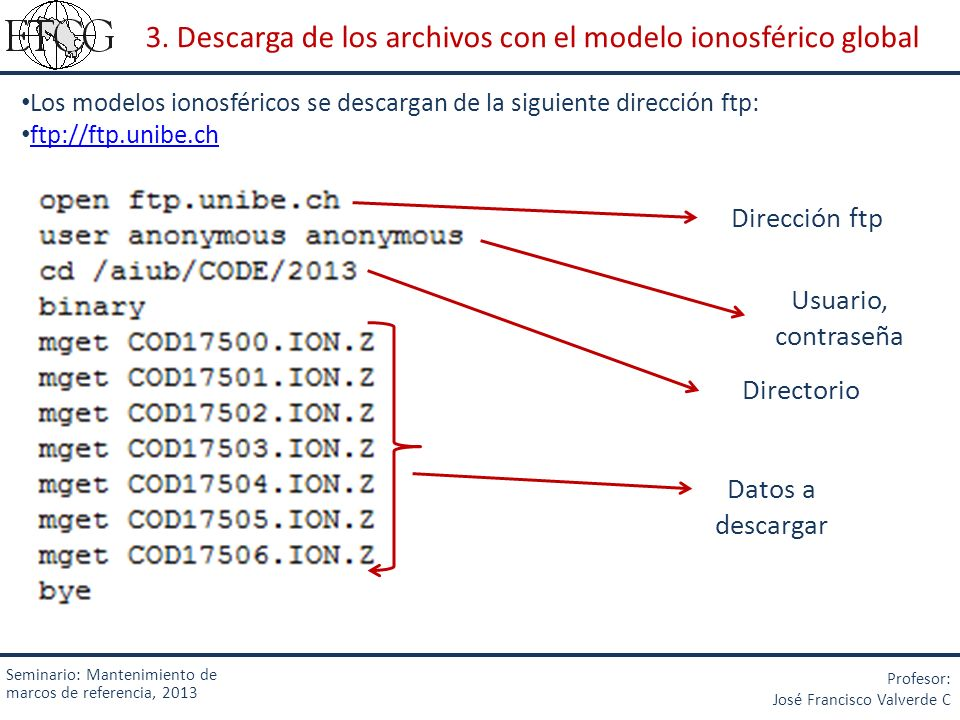 3. Descarga de los archivos con el modelo ionosférico global